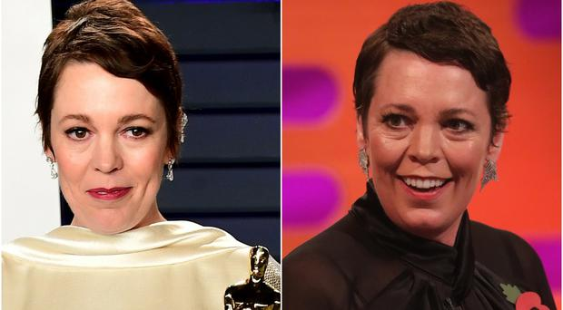 Olivia Colman appears as a guest on The Graham Norton Show (PA).
