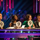Craig Revel Horwood, Motsi Mabuse, Shirley Ballas and Bruno Tonioli (Guy Levy/BBC)