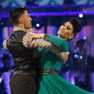 Giovanni Pernice and Michelle Visage on Strictly Come Dancing (Guy Levy/PA)