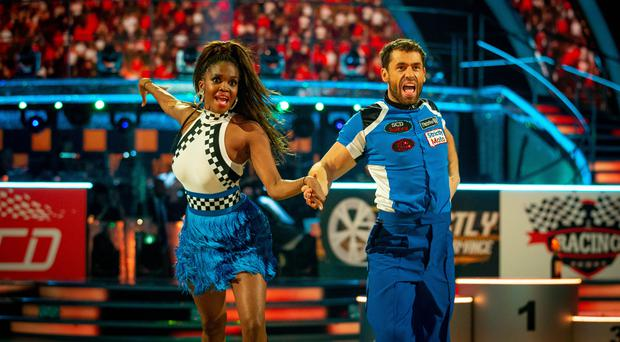 Oti Mabuse and Kelvin Fletcher (Guy Levy/BBC)