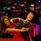 Alex Scott dancing with Kevin Clifton (Guy Levy/BBC/PA)
