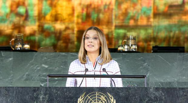 Millie Bobby Brown addressed a global summit at UN headquarters (Unicef/PA)