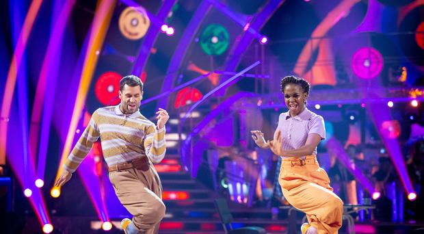 Kelvin Fletcher and Oti Mabuse on Strictly Come Dancing (Guy Levy/PA)