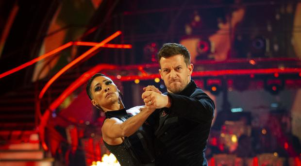 Karen Hauer and Chris Ramsey on Strictly Come Dancing (Guy Levy/BBC/PA)