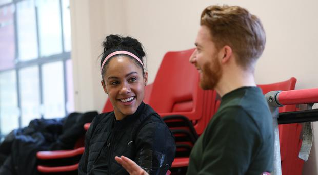 Alex Scott and Neil Jones speak to PA during rehearsals for Strictly (PA)