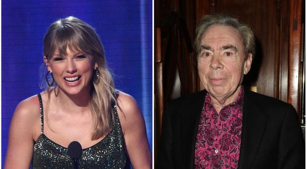 Taylor Swift and Andrew Lloyd Webber (PA)