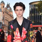 Timothee Chalamet in Burberry (Matt Crossick/PA)