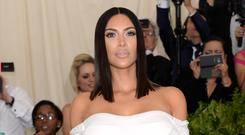 Kim Kardashian West wished son Saint a happy birthday with a touching Instagram post (Aurore Marechal/PA)