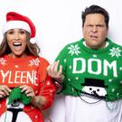 Myleene Klass and Dom Joly are fronting Save The Children's annual Christmas jumper day (Alex Bamford / Save the Children/PA)