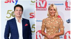 John Barrowman and Holly Willoughby (PA)