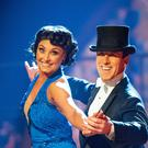 Emma Barton and Anton Du Beke (Guy Levy/BBC)