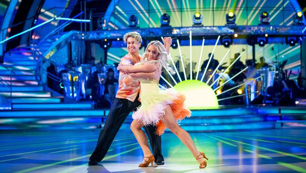 Strictly's AJ Pritchard has blamed the judges for his and Saffron Barker exit from the show (BBC/Guy Levy/PA)