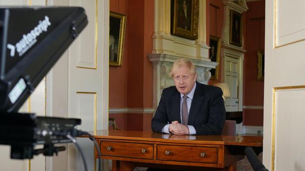 Prime Minister Boris Johnson addresses the nation from Downing Street (Andrew Parsons/10 Downing Street/PA)