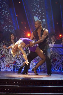 Ricky Whittle and his dance partner Natalie Lowe (BBC/PA)