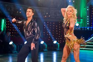 Scott Maslen and Natalie Lowe (Guy Levy/BBC/PA)