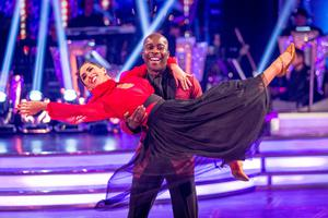 Melvin Odoom and Janette Manrara take the Strictly stage (Guy Levy/BBC/PA)