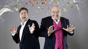 Hosts John Torode, left, and Gregg Wallace, as MasterChef and spin-off series land new three-year deal (BBC/PA)