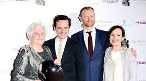 We've been expecting you, Mr Bond. Andrew Scott (centre left) is the latest screen foe for 007