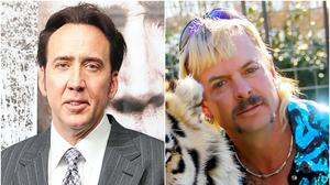 Nicolas Cage and Joe Exotic (Ian West/Netflix/PA)