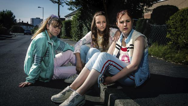 Ruby (Liv Hill), Holly (Molly Windsor), and Amber (Ria Zmitrowicz), who appear in Three Girls (BBC/PA)