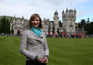 Fiona Bruce during filming at Balmoral Castle for a previous series (Andrew Milligan/PA)