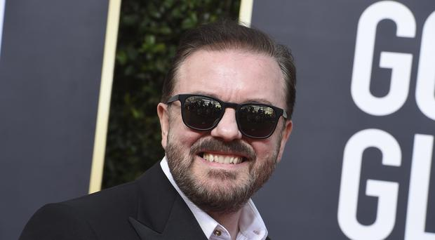 Ricky Gervais touched on Harvey Weinstein, Jeffrey Epstein and Prince Andrew during the Golden Globes ceremony (Jordan Strauss/Invision/AP)