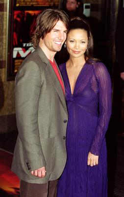 Tom Cruise and Thandie Newton at the Mission: Impossible 2 premiere (Michael Crabtree/PA)