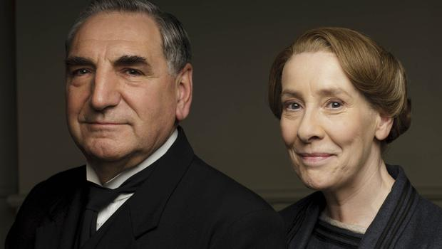 Jim Carter as Mr Carson and Phyllis Logan as Mrs Hughes in Downton Abbey (Nick Briggs/ITV/PA)