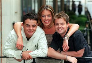 Cat Deeley with Ant and Dec on SM:TV Live (Peter Jordan/PA)