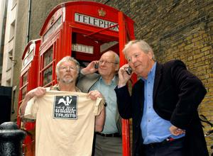 The Goodies (left to right) Bill Oddie, Graeme Garden and Tim Brooke-Taylor (PA)