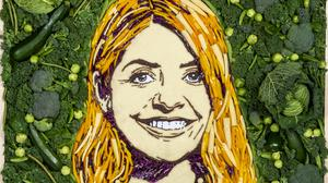 A Holly Willoughby vegetable portrait (Prudence Staite/ITV)