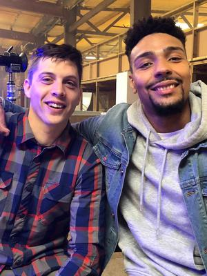 Scott Hamlin with Revolution presenter Jordan Banjo