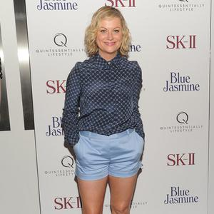 Amy Poehler steps out in shorts for the Blue Jasmine event