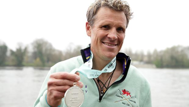 James Cracknell celebrates after winning the Men's Boat Race with Cambridge (Adam Davy/PA)