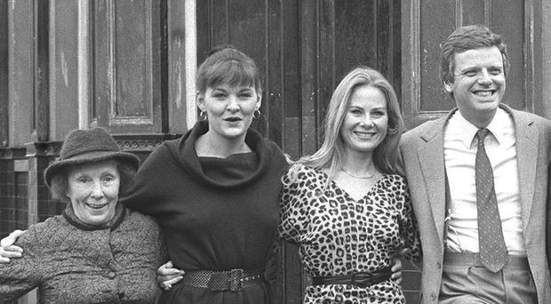 Sandy Ratcliff, second from left, along with fellow cast members and former BBC1 controller Michael Grade (PA)
