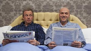 Tim Lovejoy and Simon Rimmer on the set of Sunday Brunch (Adam Lawrence/Channel 4/PA)