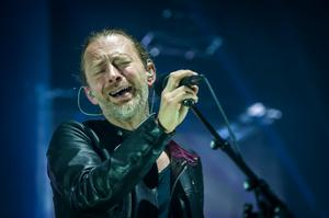 Thom Yorke of Radiohead performs live on stage, at the Roundhouse, Chalk Farm, Camden in London