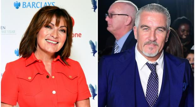 Lorraine Kelly takes dig at Paul Hollywood (PA Archive/PA)
