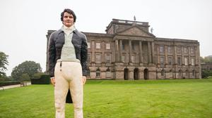 A life-sized cake of Mr Darcy, as played by Colin Firth (David Parry/PA)