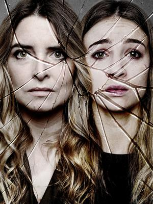 Emma Atkins (left) and Mica Proctor as Charity Dingle promoting the character's flashback episode next week.