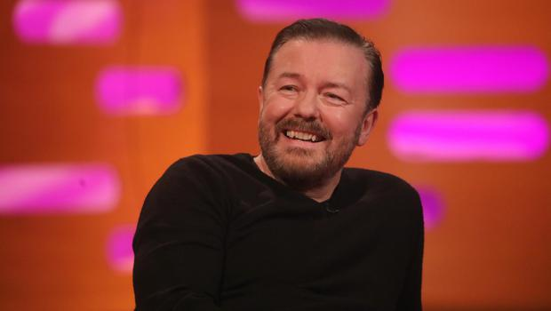 Ricky Gervais during the filming for the Graham Norton Show. (Isabel Infantes/PA)