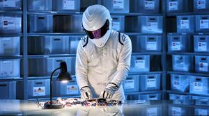 The Stig breaks into Lego HQ in promo clip for new Top Gear toy (BBC/Lego/PA)