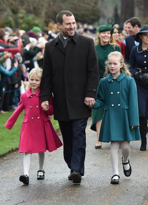 They were discussing an advert starring Peter Phillips, seen here with his daughters Isla (left) and Savannah (right) (Joe Giddens/PA)