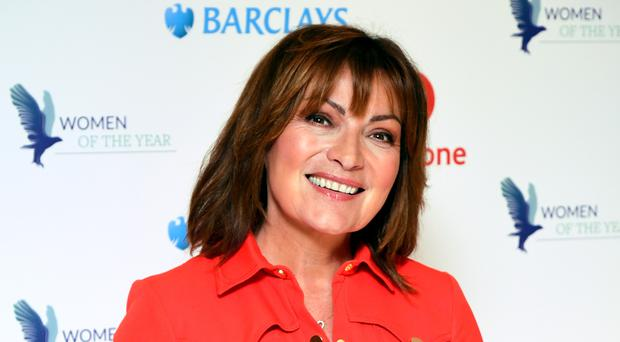 Lorraine Kelly transformed into her drag queen alter ego Morning Gloria (Ian West/PA)