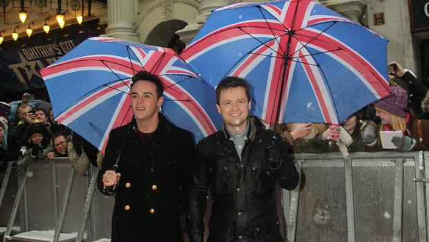 Ant and Dec arriving for Britain's Got Talent audtions in 2013 (Yui Mok/PA)