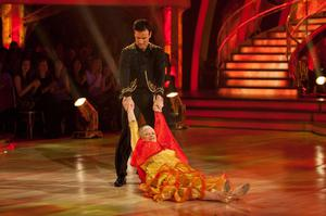 Handout photo issued by the BBC of Ann Widdecombe and Anton Du Beke dancing the Paso Doble during the live show of Strictly Come Dancing in 2010 (Photo credit should read: Guy Levy/BBC)