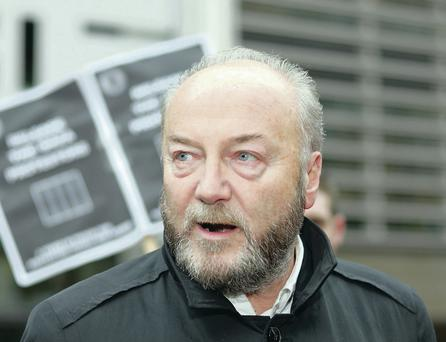 George Galloway is due to speak at Belfast's Ulster Hall