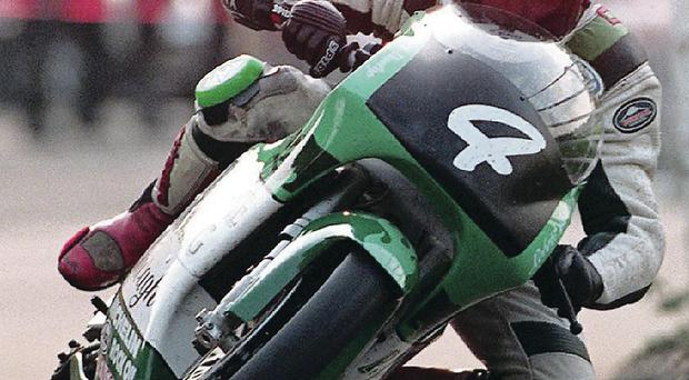 Family tragedy: Robert Dunlop in action