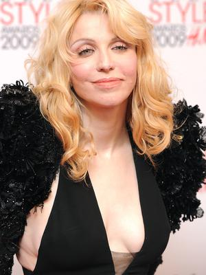 Courtney Love arrives for the ELLE Style Awards 2009 at Big Sky London, 29-31 Brewery Street, London