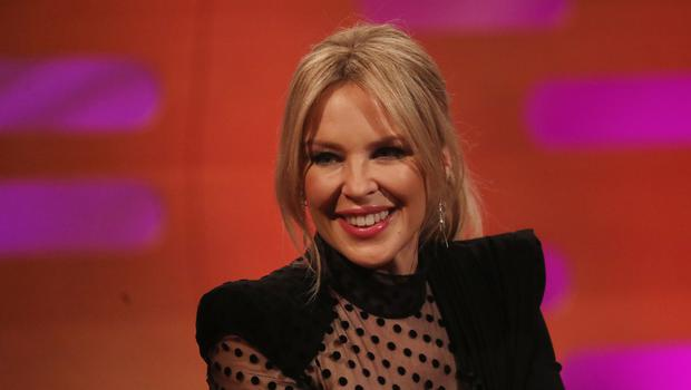Kylie Minogue during the filming for The Graham Norton Show (Isabel Infantes/PA)